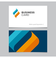 business card 02 vector image vector image