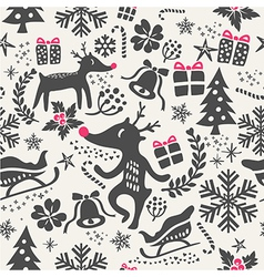 Christmas tiling background seamless pattern vector image vector image