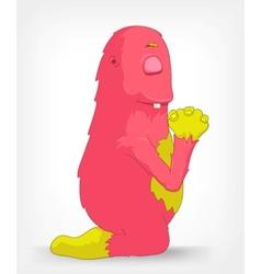 Funny Monster Prey vector image
