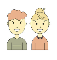male and female flat icons vector image vector image