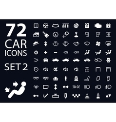 collection of white car dashboard panel vector image