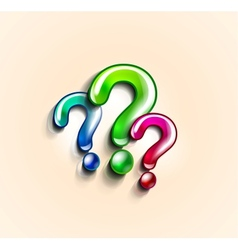 Colorful question marks design template vector image