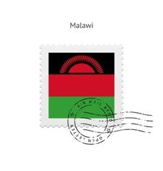 Malawi flag postage stamp vector