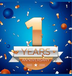 One years anniversary celebration design vector