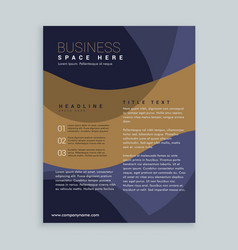 stylish brown and blue brochure flyer design in vector image vector image