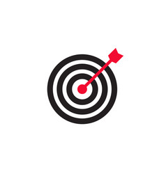 arrow in center target icon vector image