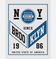 athletic ny brooklyn vector image