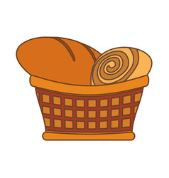 Bakery goods basked vector