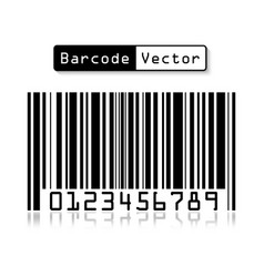 bar code on white background vector image