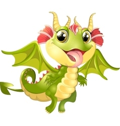 Beautiful dragon on a white background vector image