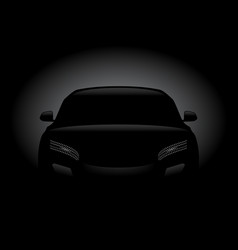 black car silhouette vector image