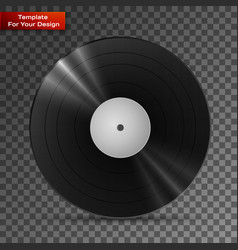 Black vinyl record lp album disc vector