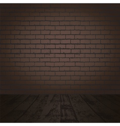 brick wall and wood floor vector image