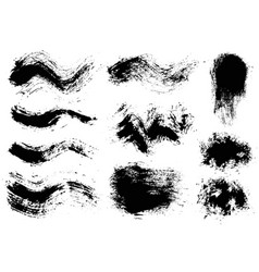 brush strokes set 8 vector image