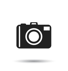 camera icon on white background flat vector image