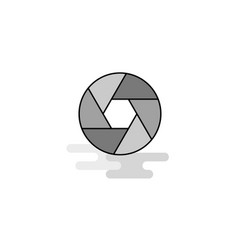 camera shutter web icon flat line filled gray icon vector image
