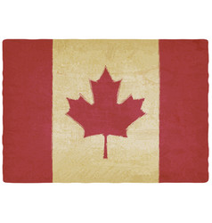 Canadian flag in retro colors vintage background vector