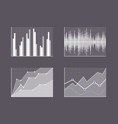Charts visualisation poster vector