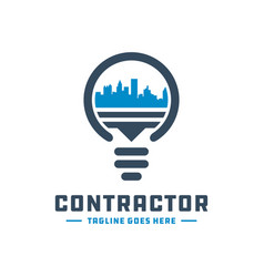 city lights logo design vector image