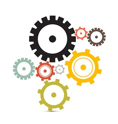 Cogs - Gears Isolated on White Background vector image