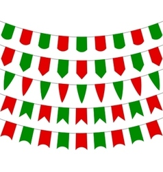 collection festive decorative flags holiday vector image