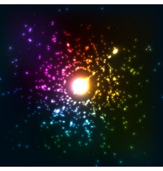 Colorful cosmic explosion vector image