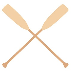 Crossed oars vector image