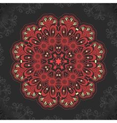 Damask arabesque ornamental motif vector