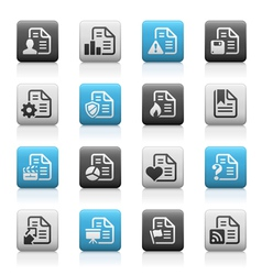 Documents icons 2 Matte Series vector