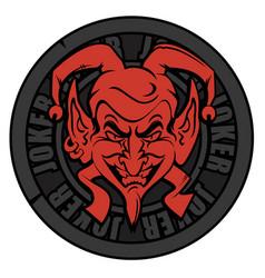Emblem joker vector