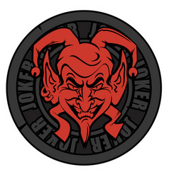 emblem joker vector image