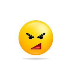 Emoji smile icon symbol angry face yellow cartoon vector