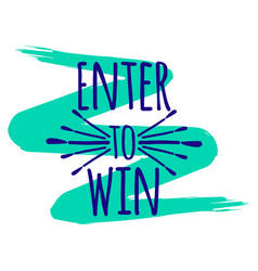 enter to win banner concept for web gift card and vector image