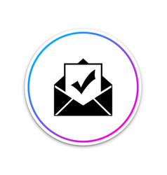 envelope with document and check mark icon on vector image
