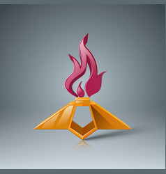Eternal flame icon may 9 - victory day vector