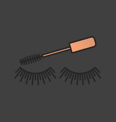 Eye mascara color icon vector