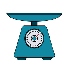 food scale device vector image