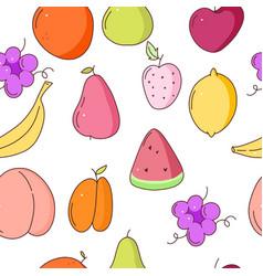fruits seamless pattern pattern vector image