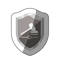 Gavel justice and law concept vector