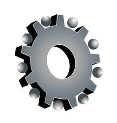 gear setting icon logo vector image