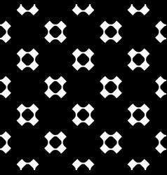 Geometric seamless pattern perforated crosses vector