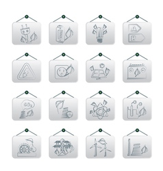 Green energy and environment icons vector image