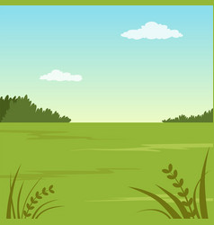 Green valley summer landscape nature background vector
