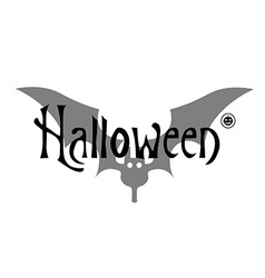 Greeting card or invitation Halloween on white vector
