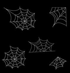 halloween spider web vector image