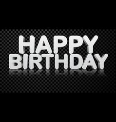 Happy birthday 3d checkered background vector