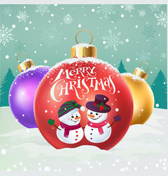 happy snowmen vector image