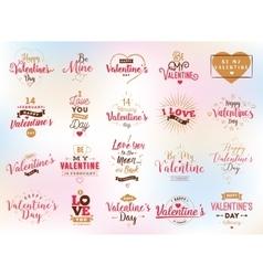 Happy Valentines day typography design vector image