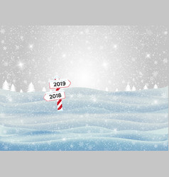 Holiday winter landscape background with winter vector