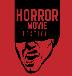 Horror movie festival hand drawn of vector